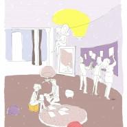 """Imfusio - signalétique de l'espace de travail. Extrait d'une série de 7 illustrations. - par <a href=""""http://www.fgcp.net/Veronique Olivier Martin"""">Véronique  Olivier Martin</a>"""