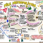 """Capture en temps réel d'une discussion de 1h30. Réalisée avec Vincent Gardelle Format: 4mx3m - par <a href=""""http://www.fgcp.net/laurevillemaine"""">Laure  Villemaine</a>"""