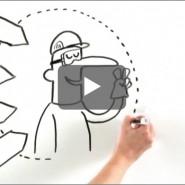 Vidéo animée pour Lafarge, communication interne. Auteur: Nicolas Gros.  ©