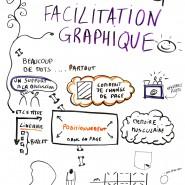 """Scribe debrief fin de journée sur le fil rouge de la """"Facilitation graphique"""", Agile France 2014, mai 2014 par @RomainCouturier, www.terredagile.com"""