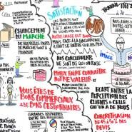 """Graphic recording d'une journee de seminaire annuel - par <a href=""""http://www.fgcp.net/laurevillemaine"""">Laure  Villemaine</a>"""