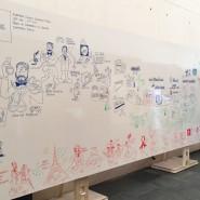 """Grande fresque en racontant l'histoire d'un grand groupe pharmaceutique.  - par <a href=""""http://www.fgcp.net/Antonio Meza"""">Antonio  Meza</a>"""