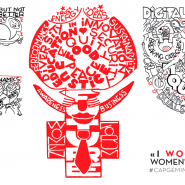 """I Woman You"": WOMEN'S FORUM 2014 / Carton-Plume 80CM X 150CM"