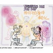 Live-sketch sur ipad pendant un séminaire d'hypnose Ericksonienne à Guangzhou, China