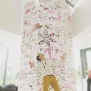 """live scribe et construction d'une tour 4m x 5m Paris juin  2016 marker sur carton plume - par <a href=""""http://www.fgcp.net/Jorge Bogumil"""">Jorge  Bogumil</a>"""