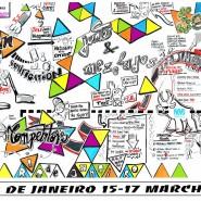 """mur de synthèse avril 2016 Rio 2m x 7m marker sur carton plume - par <a href=""""http://www.fgcp.net/Jorge Bogumil"""">Jorge  Bogumil</a>"""