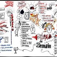 """live scribe  1,5m x 8m Paris 2016 marker sur carton plume - par <a href=""""http://www.fgcp.net/Jorge Bogumil"""">Jorge  Bogumil</a>"""