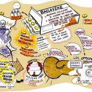"""graphic recording: 1h présentation d'un projet par un entrepreneur - par <a href=""""http://www.fgcp.net/Delphine Baudu"""">Delphine  Baudu</a>"""