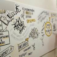 """Synthèse d'une journée de séminaire - Fresque sur carton plume 1mx2,80 - par <a href=""""http://www.fgcp.net/Frederic Debailleul"""">Frédéric  Debailleul</a>"""