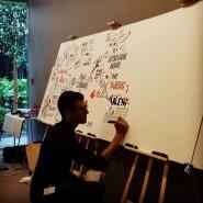 """réalisation d'une fresque 1mx2,80m , synthèse visuelle d'une journée - par <a href=""""http://www.fgcp.net/Frederic Debailleul"""">Frédéric  Debailleul</a>"""
