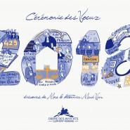"""Scribing en live pour illustrer les voeux de Mme Le Bâtonnier de Clermont-Ferrand. 2018 - par <a href=""""http://www.fgcp.net/Anne Bernardi"""">Anne  Bernardi</a>"""