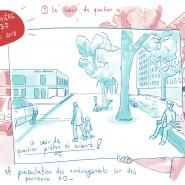 """Reportage dessiné, lors du suivi de plusieurs ateliers de concertation citoyenne pour Clermont Métropole. 2018 - par <a href=""""http://www.fgcp.net/Anne Bernardi"""">Anne  Bernardi</a>"""