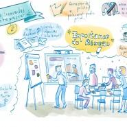 """Scribing en live, ateliers pour la CRESS Aurillac. 2018 - par <a href=""""http://www.fgcp.net/Anne Bernardi"""">Anne  Bernardi</a>"""